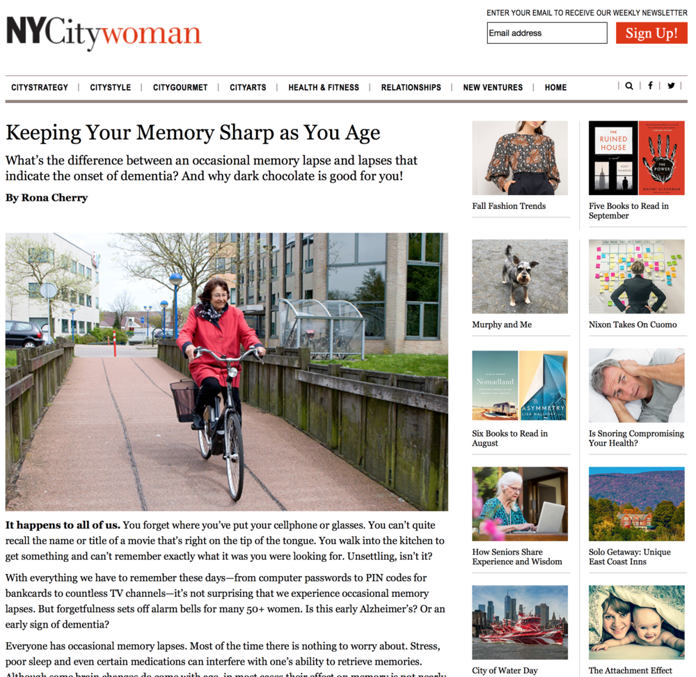 Read about holding on to your sharp memory as you age