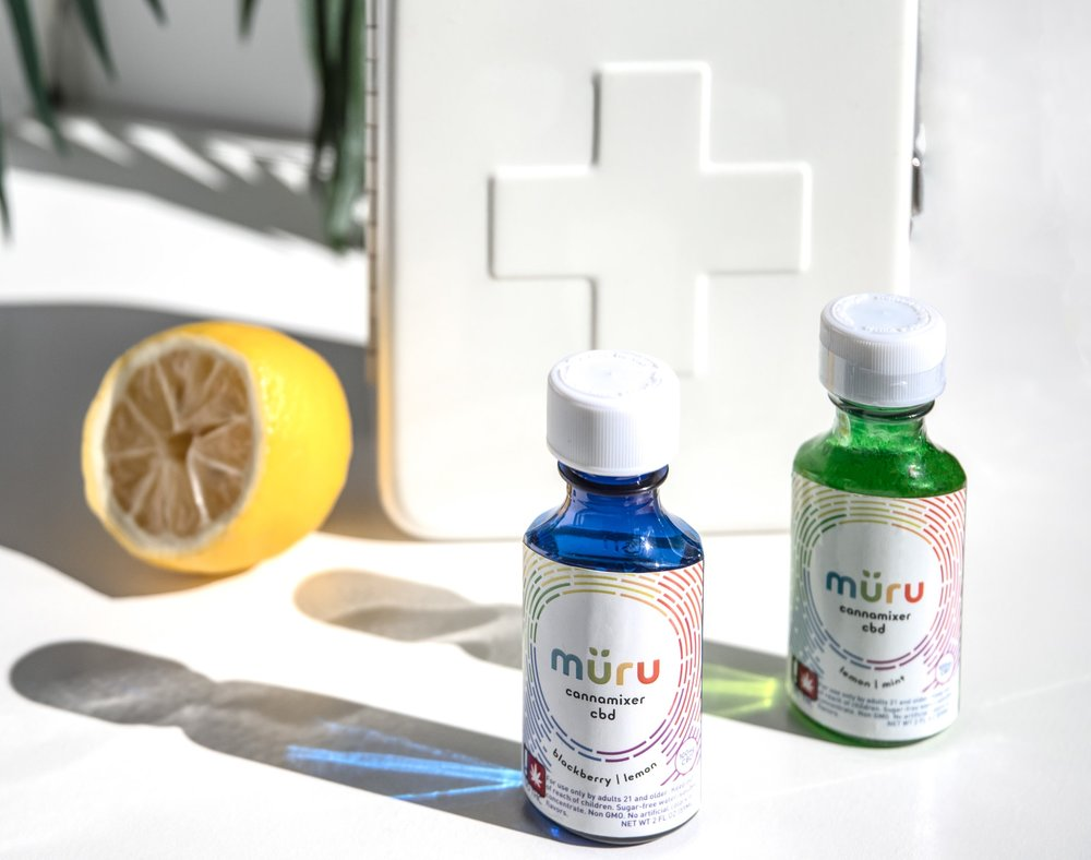 müru hemp derived CBD cannamixers - This formula is made from the hemp plant and contains zero mg of THC. All of the healing powers of the CBD molecule, available nationally. If you are in need of relief from stress, anxiety, pain, inflammation, sleeplessness, headaches, etc. This formula is perfect for fast relief on the go.Container: 100mg water-soluble CBD, 0mg THC.1 tspn contains 10mg of water-soluble CBDFlavors available:blackberry lemon, lemon mint, grapeAvailable Online!