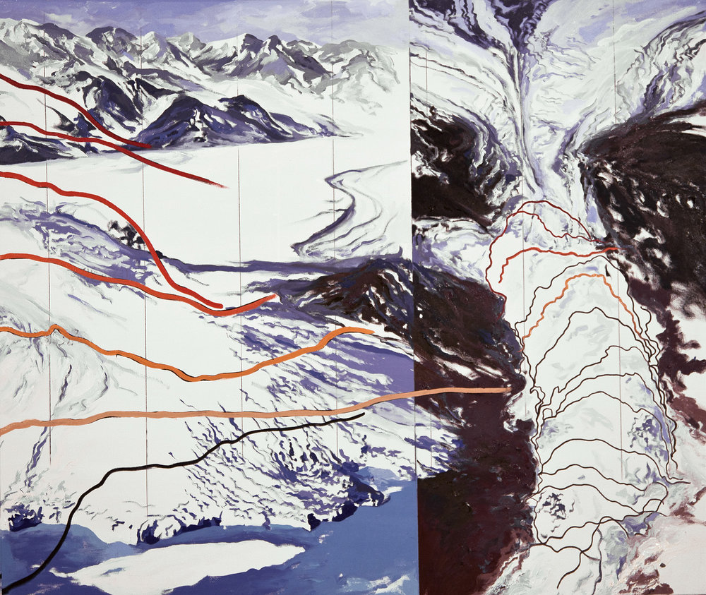 Columbia Glacier Lines of Recession 1980-2005