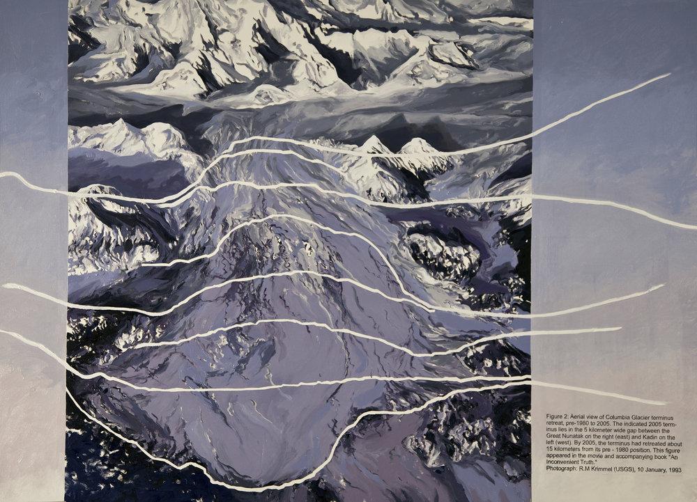 Columbia Glacier Triptych I (figure 2), Krimmel 1980-2005