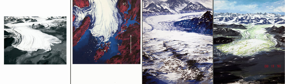 Columbia Glacier #1, #2, #3, #4