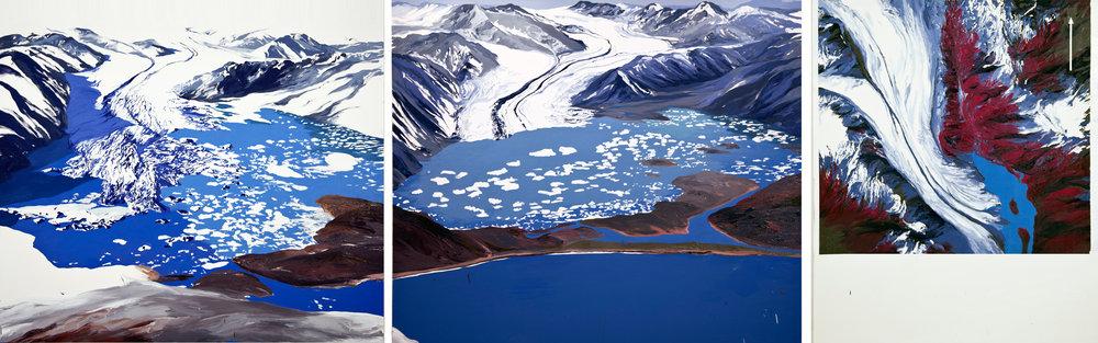 Bear Glacier 2002, 2007, 1984