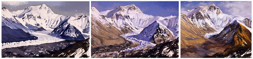 Main Rongbuk Glacier Series, 1-3