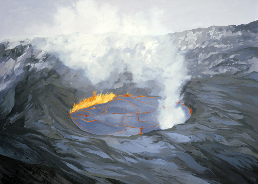 Pu'u O'o Crater, Down Rift Pond (1992) #1