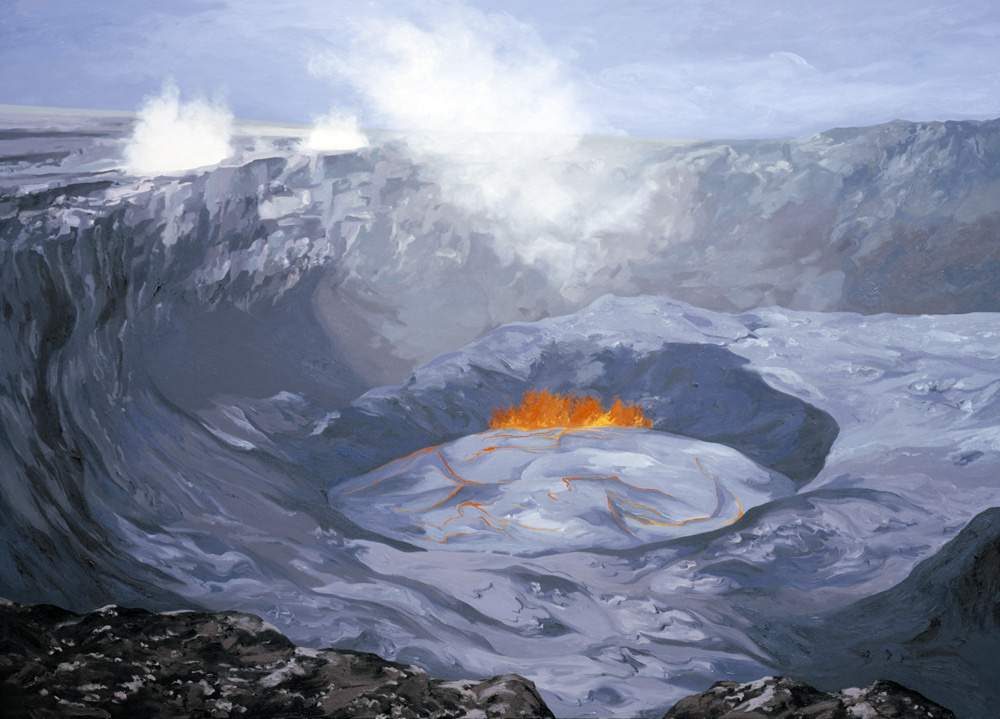 Pu'u O'o Crater, Down Rift Pond (1992) #2