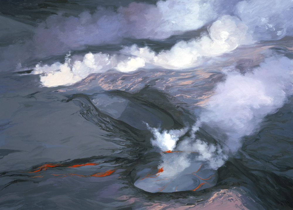 Kupaianaha Lava Lake from 1987