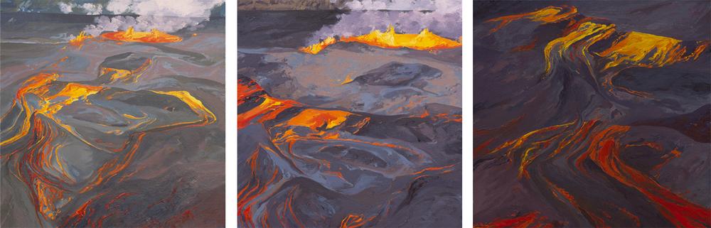 Focus #2, 1 and 3 - Halema'uma'u Crater