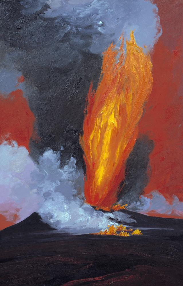 High Lava Fountain - Pu'u O'o (1984) #2