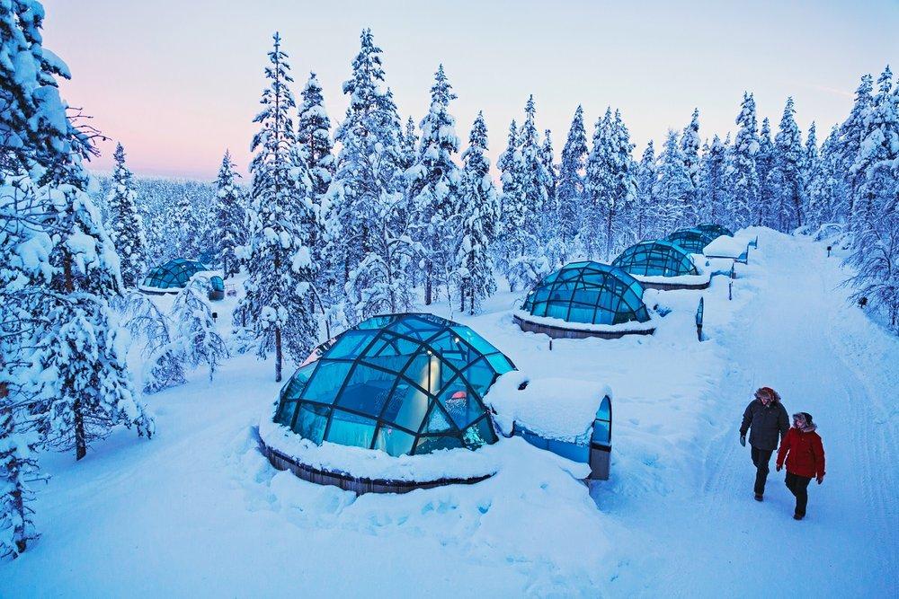 Photo via    Kakslauttanen Arctic Resort