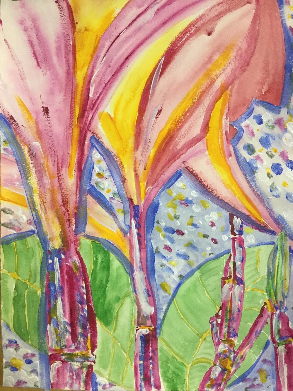 Abstract frangipani
