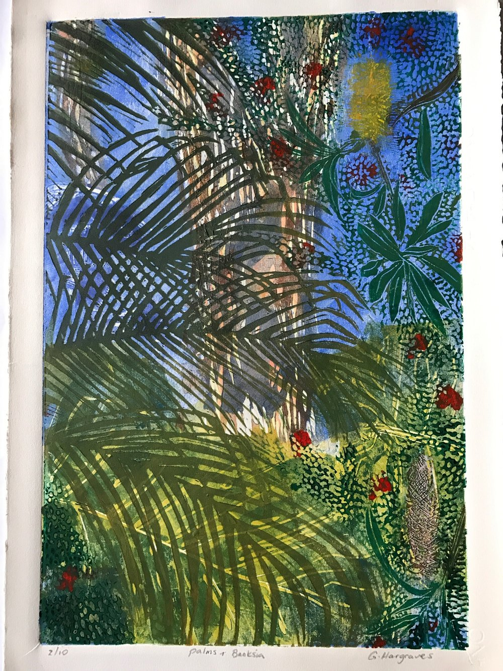 Palms and Banksia