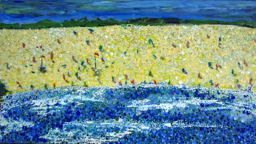 Beach form the sea