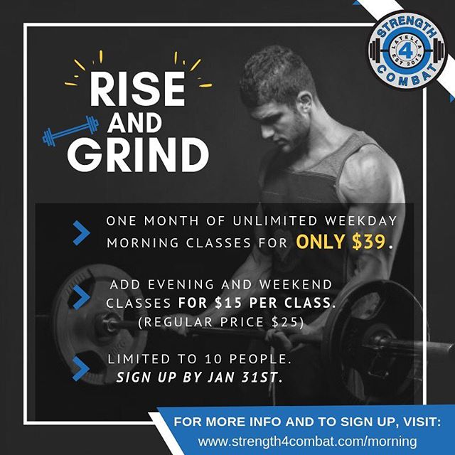 1 month of unlimited Boot Camp, Self- Defense, and Kickboxing for only $39. For more info and to sign up, visit our website (link in bio) . . . . #riseandgrind #morningmotivation #fitness #bootcamp #kickboxing #muaythai #haganah #kravmaga #selfdefense #boynton #boyntonbeach