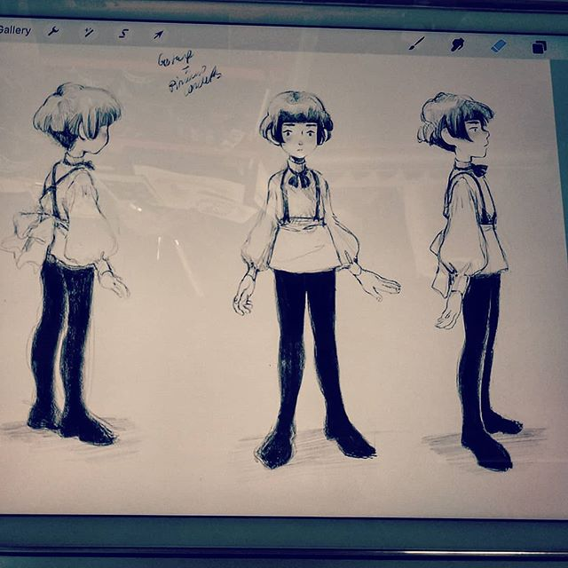 partial character turnaround 👌 #procreate #ipadpro #applepencil #originalcharacter