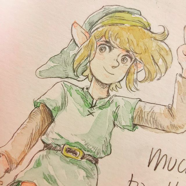 Doodles from my stories! #link #fanartfriday #originalcharacter #watercolor