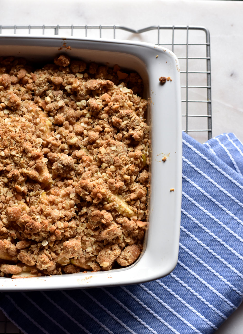 Vanilla Cookie Apple Crisp Fresh Baked Yum