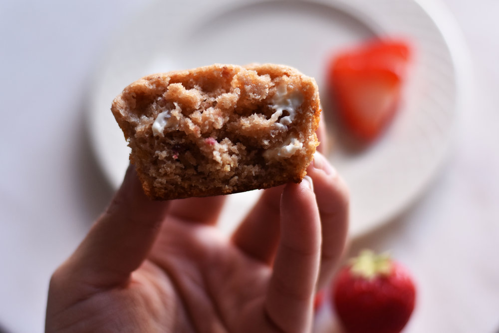 Strawberries and Cream Protein Muffins