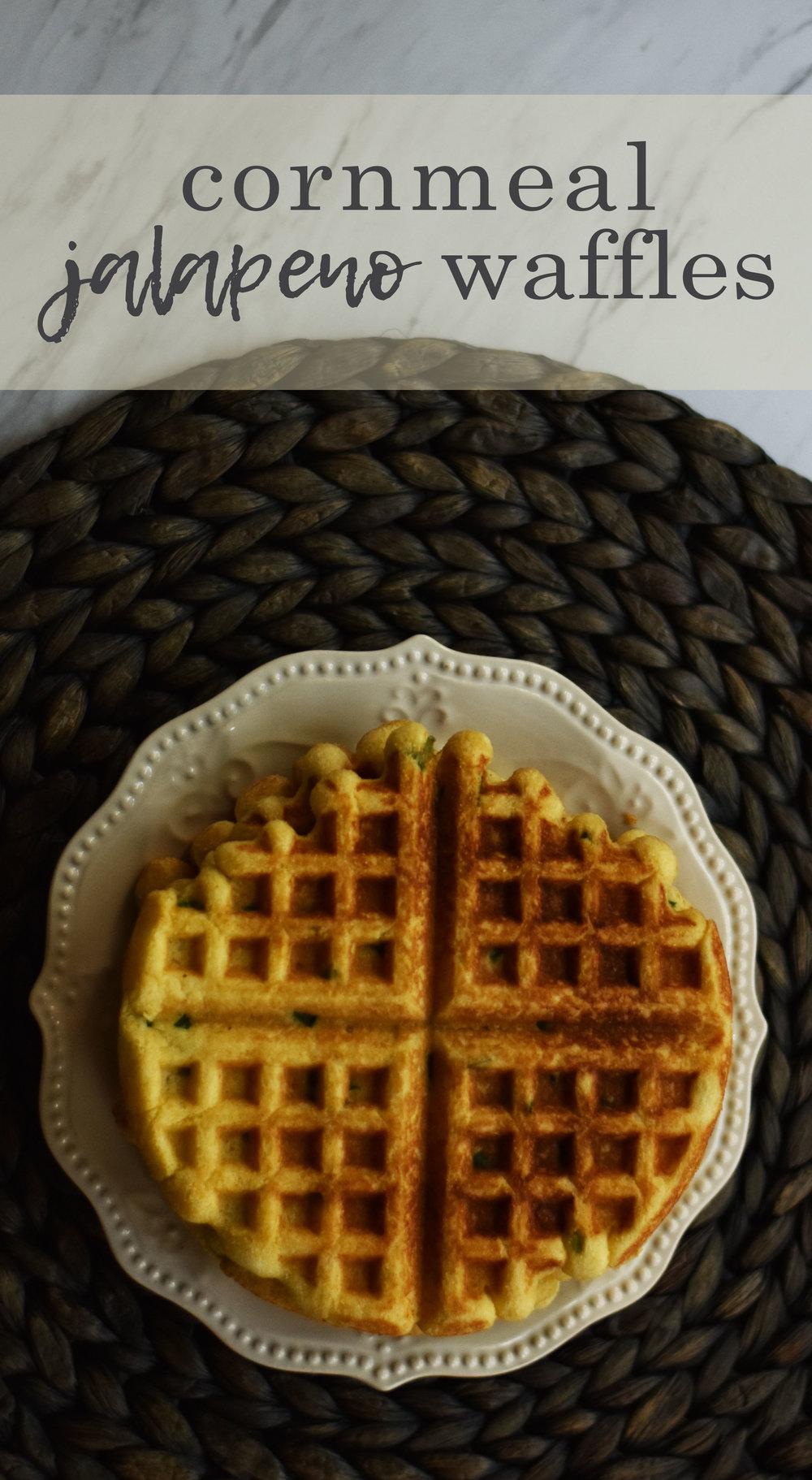 Cornmeal Jalapeno Waffles