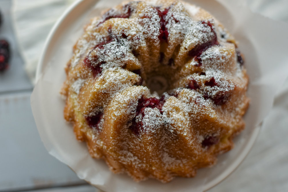 easy blackberry vanilla bean bundt cake recipe