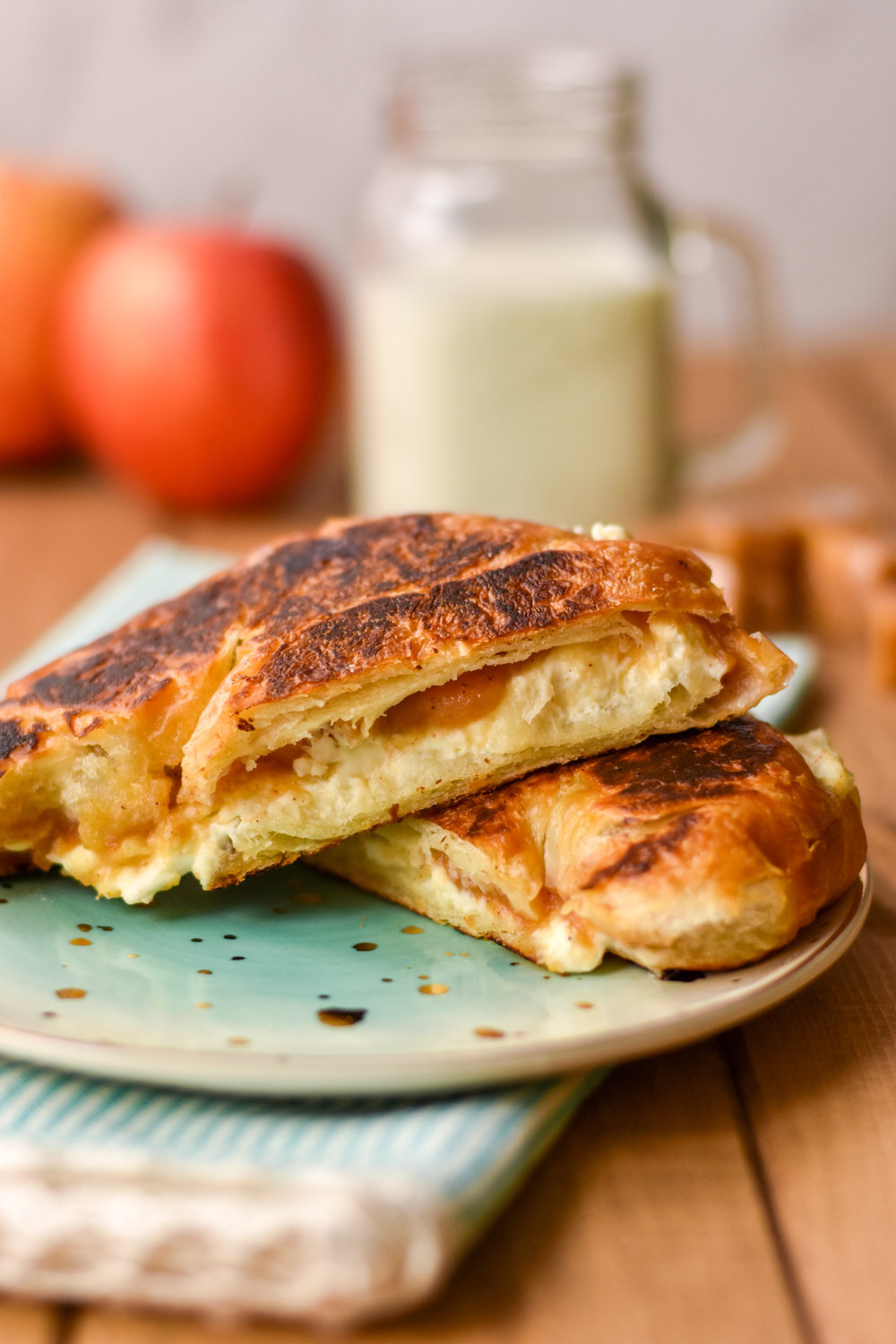 caramel apple grilled cheese sandwich recipe