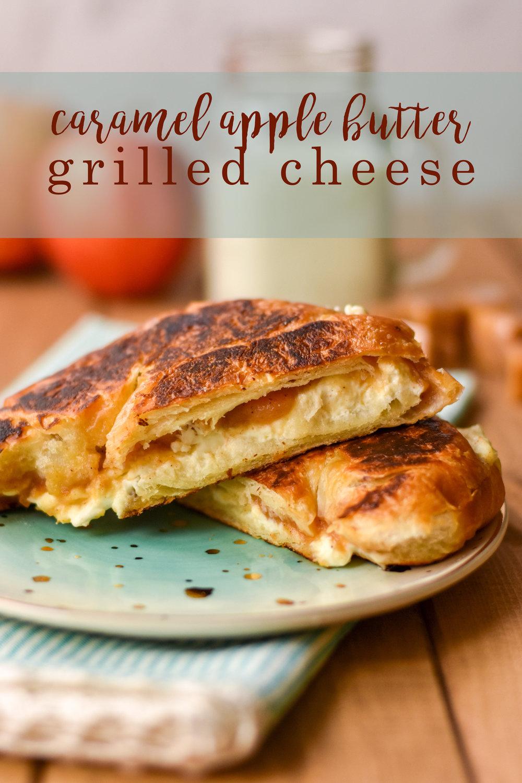 Caramel Apple Butter Grilled Cheese Sandwich Recipe Pinterest Graphic.jpg
