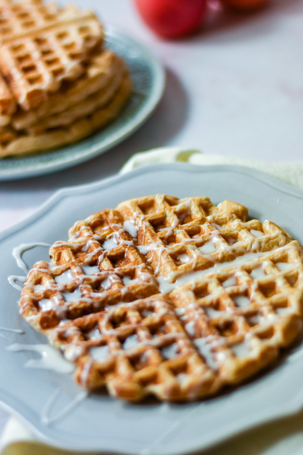 The best apple fritter waffles in the world, these make a wonderful breakfast idea.
