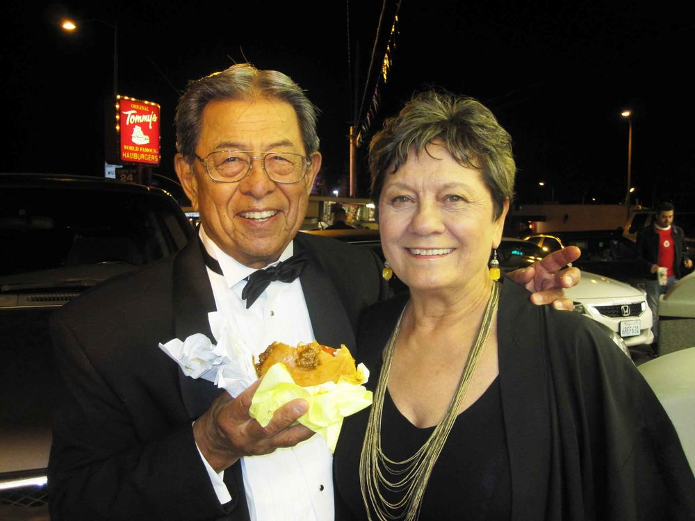 Gregory Villanueva and Carlene Sobrino Bonnivier at the Original Tommy's Hamburgers in Los Angeles' Historic Filipinotown in 2018.