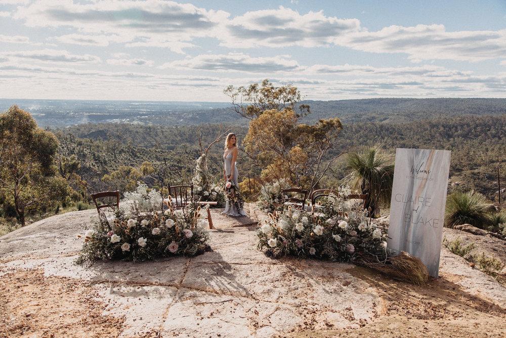 LINES AND SQUARES - Australian Landscapes Wedding Inspiration - John Forrest National Park