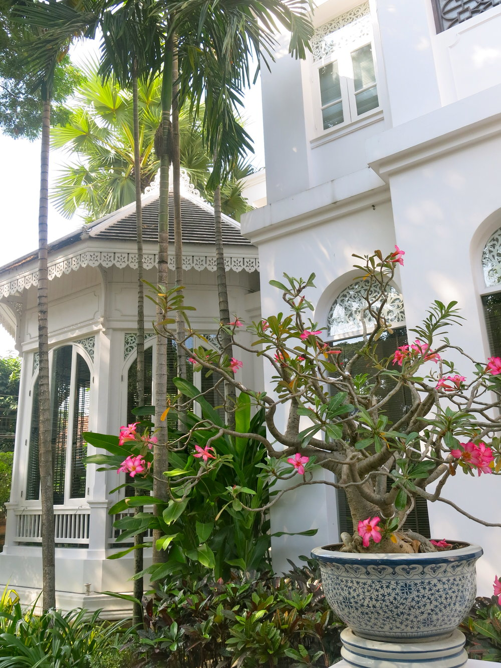 Entrance of the colonial-style Ping Nakara Boutique Hotel