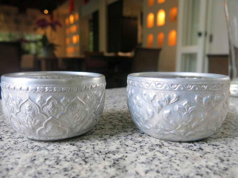 Light metal cups that keep the water really fresh