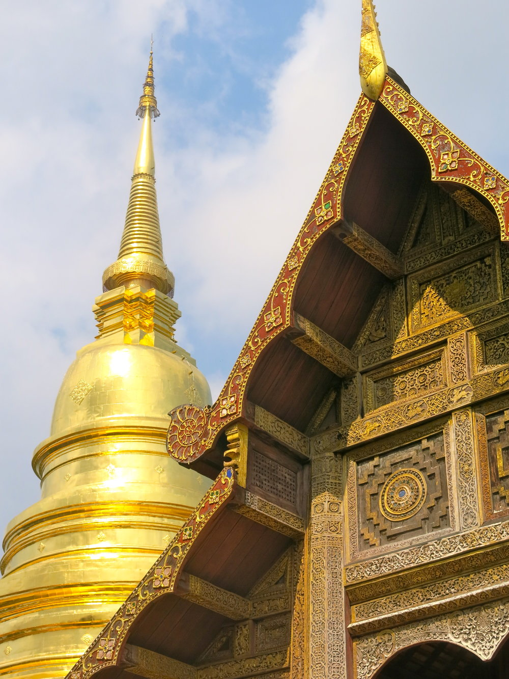 Buddhist monks still live in the complex