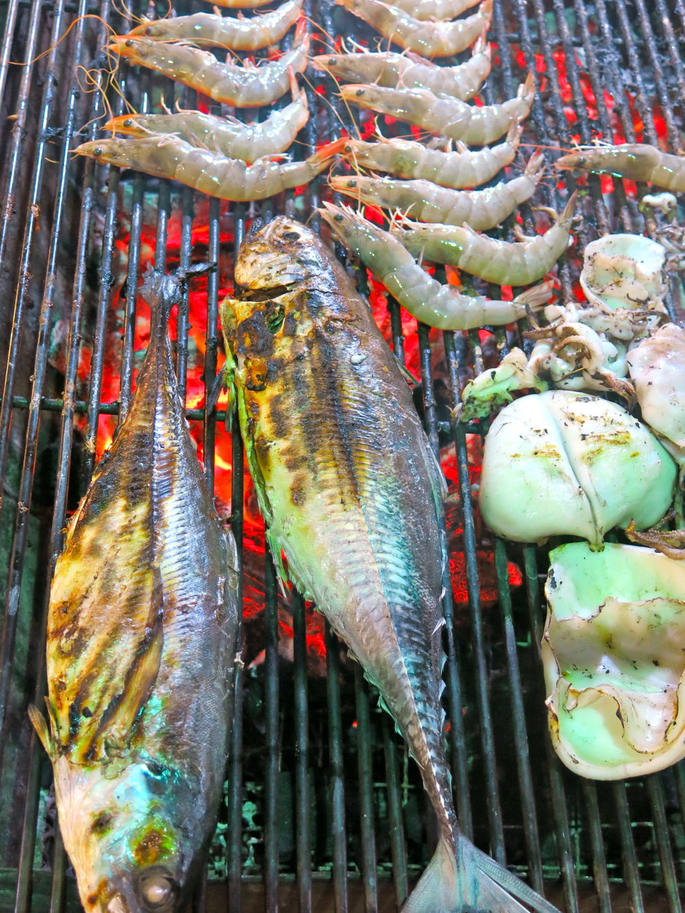 Delicious grilled fish at Krabi Town night market
