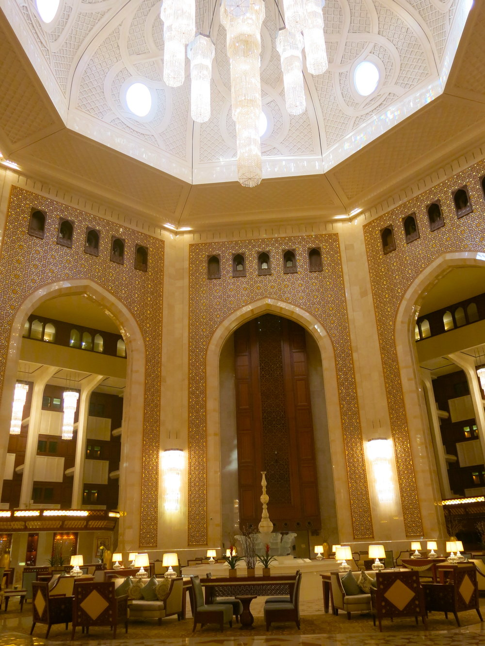 The lobby comes straight out of an oriental fairy-tale