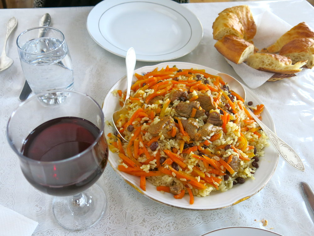 Homemade Plov, the Uzbek national dish