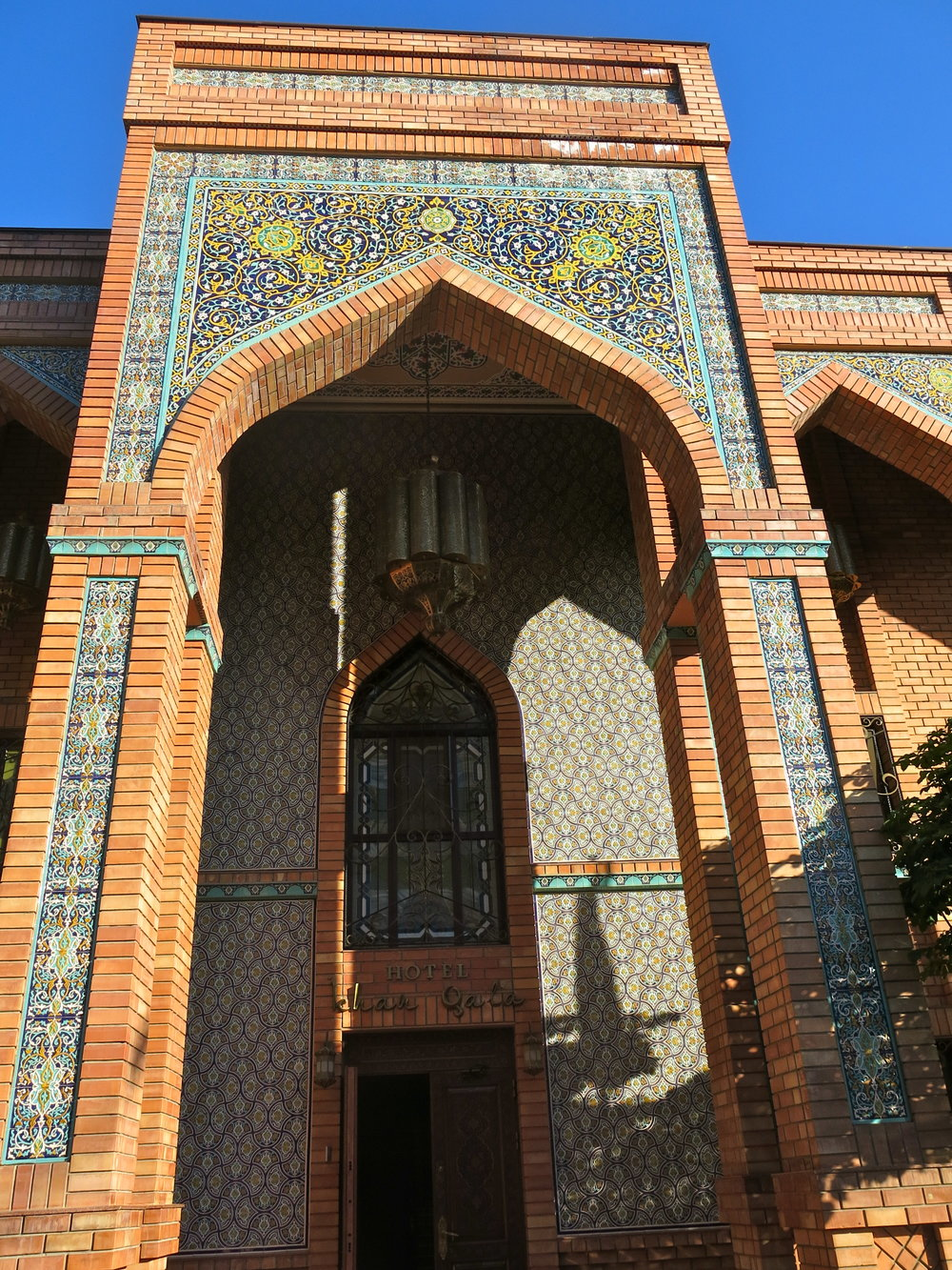 Entrance hall of our boutique hotel in Tashkent: the Ichan Qala