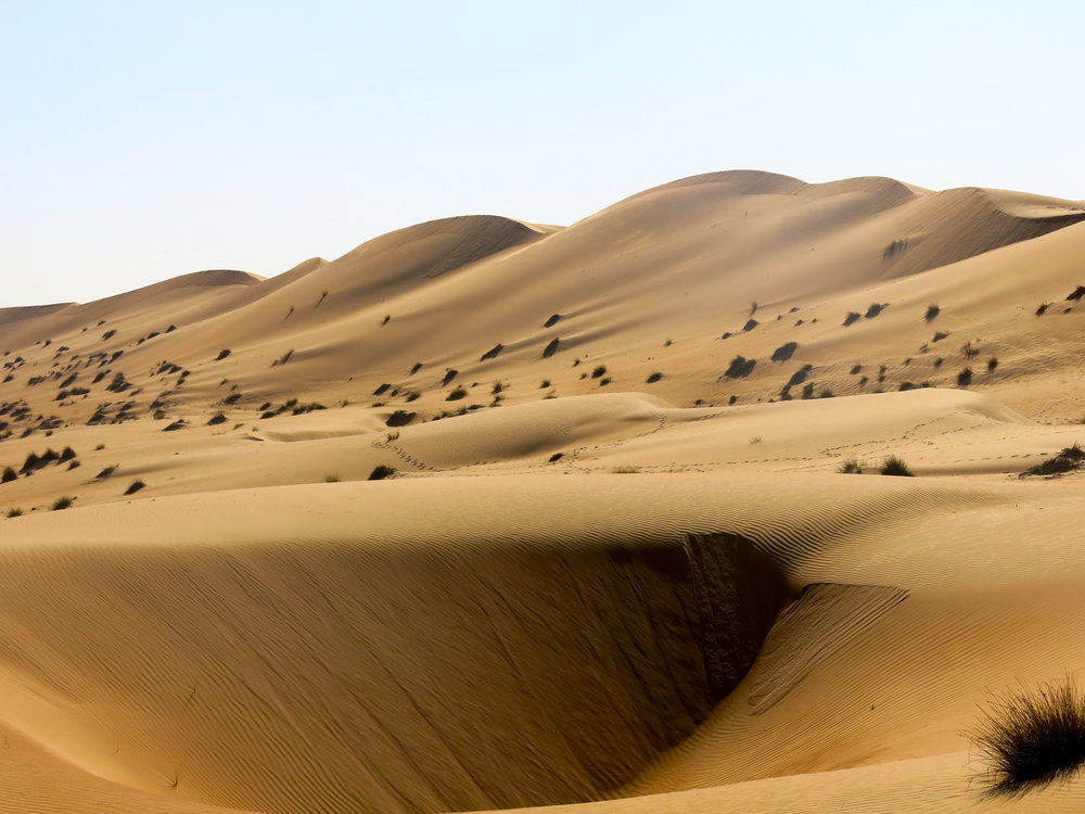 The dunes can reach a height of 200 meters