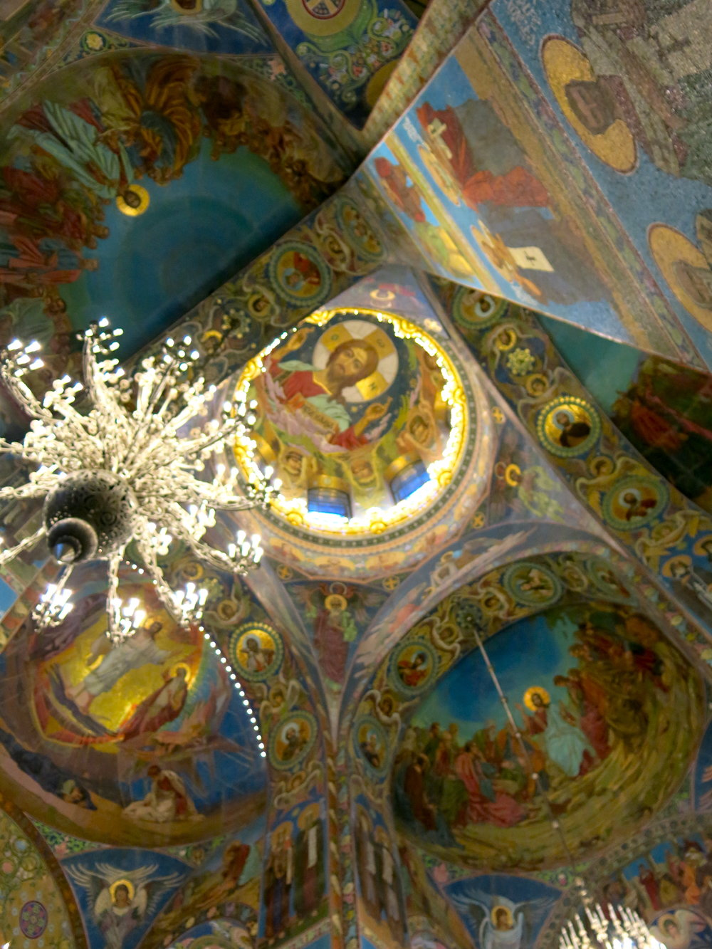 Colorful interior of the church