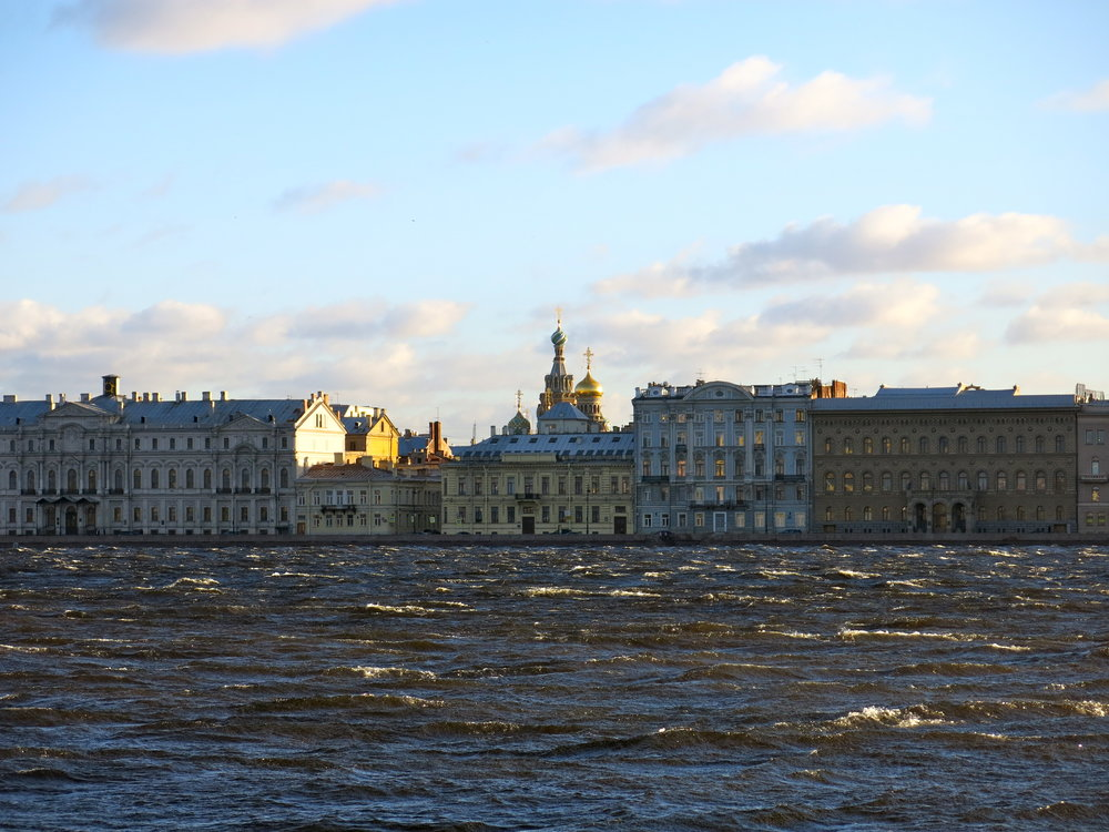 View on Saint Petersburg and the Neva from Petrogradsky Island