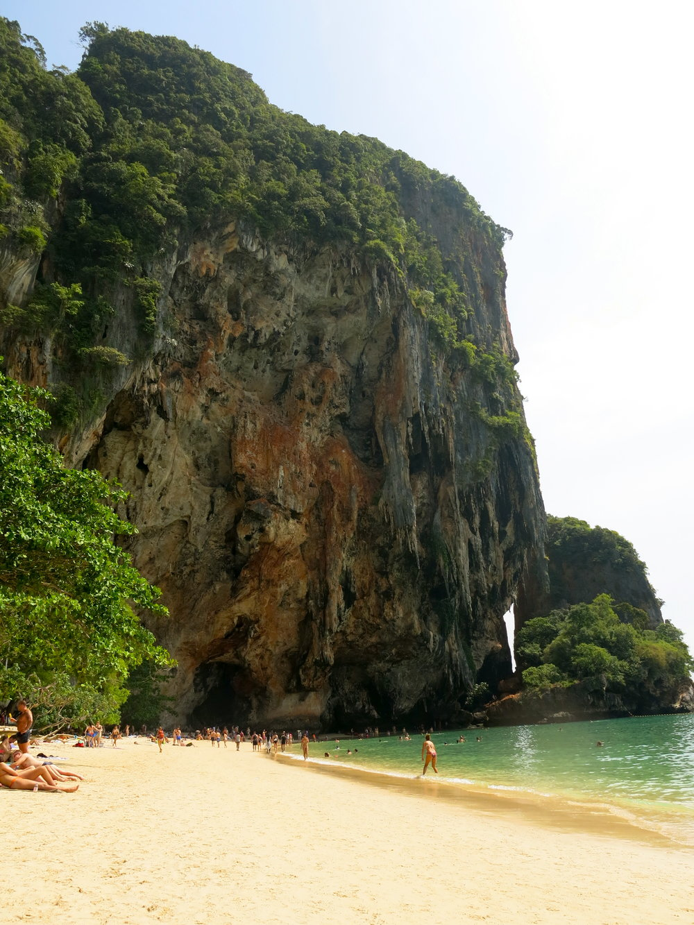 Ao Phra Nang beach with the Princess Cave in the back