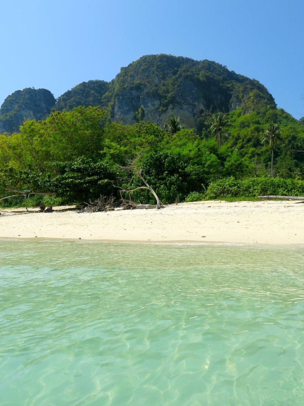 Our cast-away spot on the beach on Koh Poda island