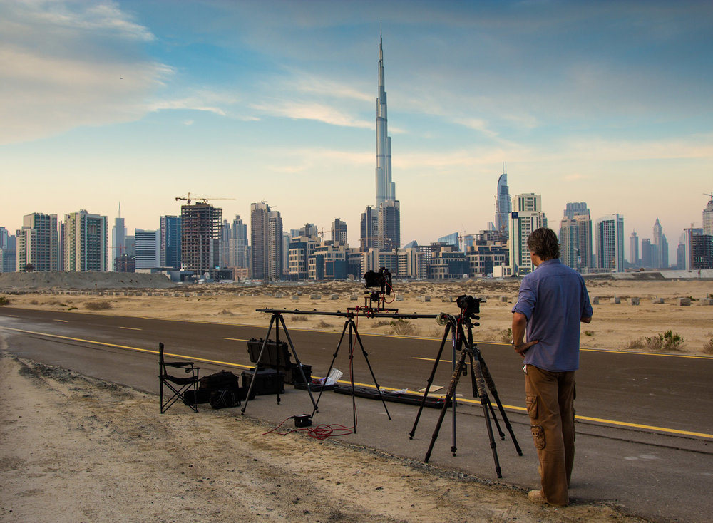 On a time lapse shooting location