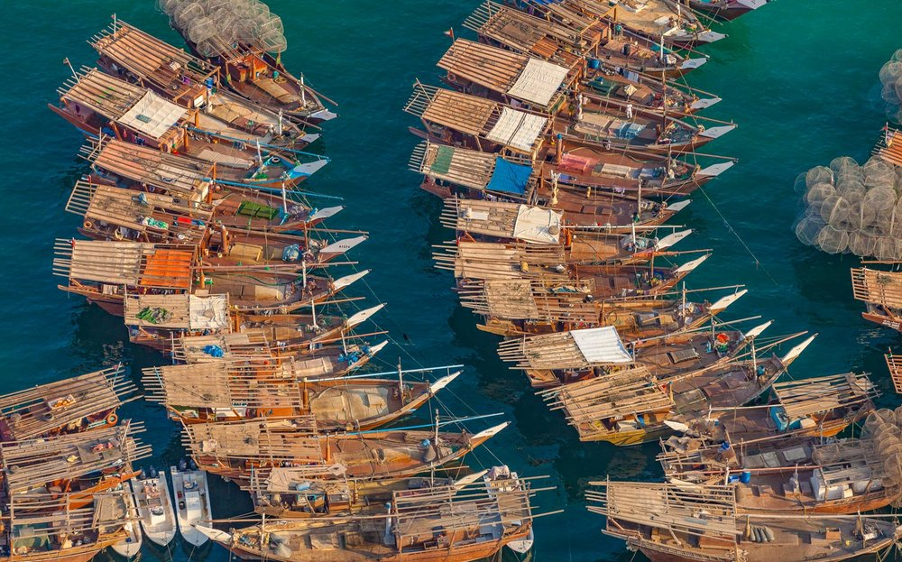 Fishing boats in Abu Dhabi