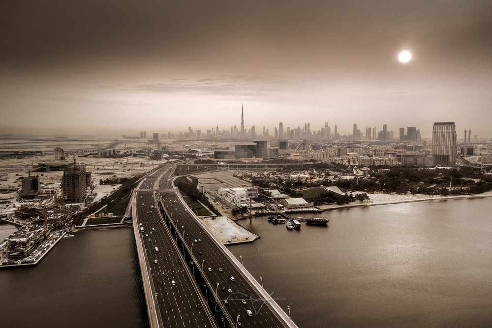 The bridge, the city