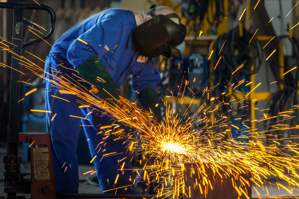 Steel factory worker