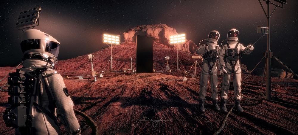 3D CGI photo composite