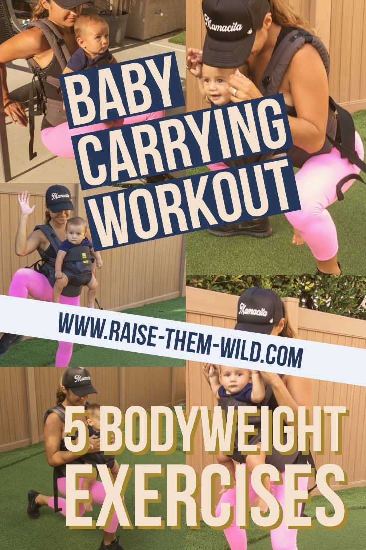 I am going to share with you some exercises you can do while wearing that baby. It's all about multi tasking these days!