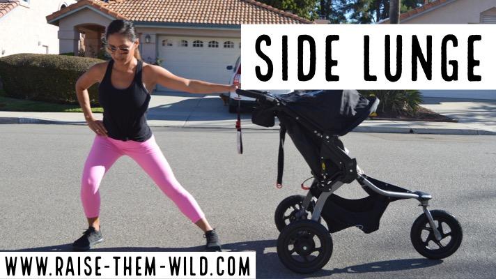 Side Lunge, stroller workout