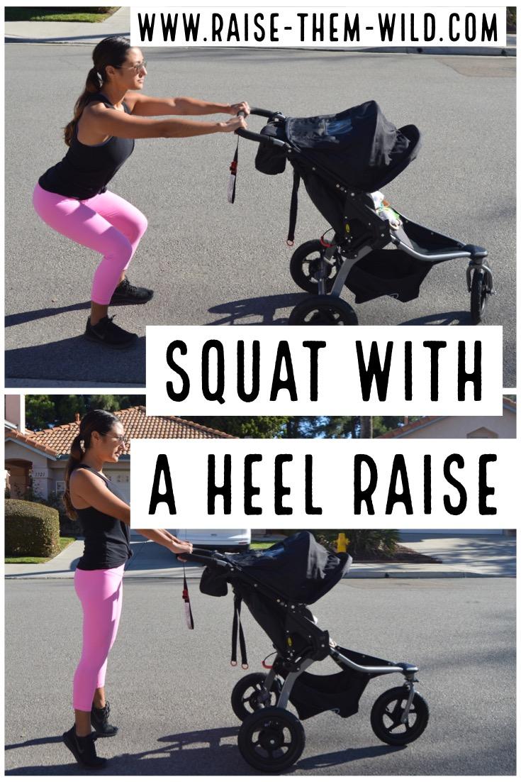 Squat with a heel raise- leg workout