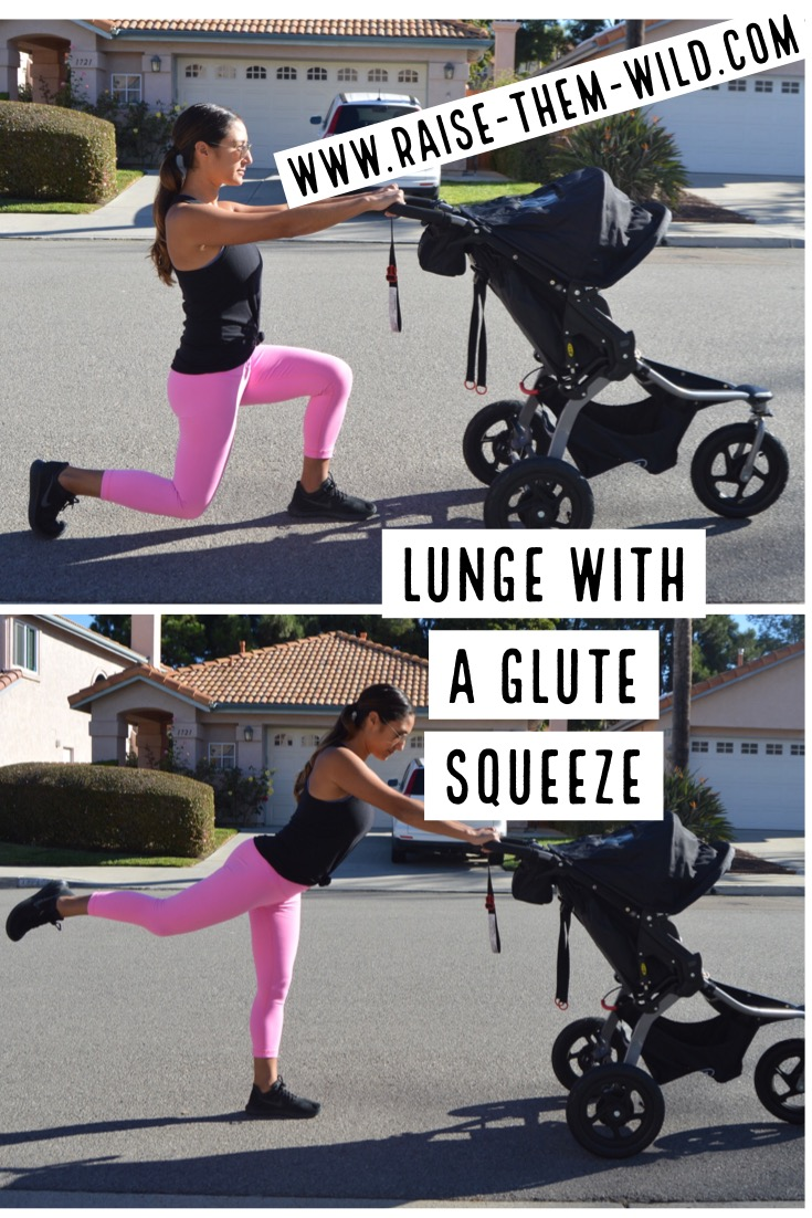 Lunge with a glute squeeze