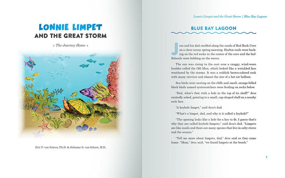 Interior page design for True Friends, by  Julianne S. van Schoor, M.D.Eric P. van Schoor, Ph.D.